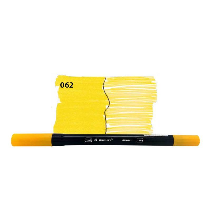 Caneta Pincel Bismark Dual Brush Dualtip Amarelo 062 PK0100C 062 27031