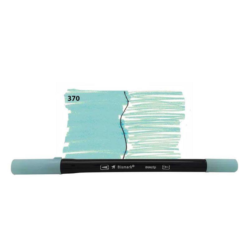 Caneta Pincel Bismark Dual Brush Dualtip Azul Pastel PK0100C 370 27037