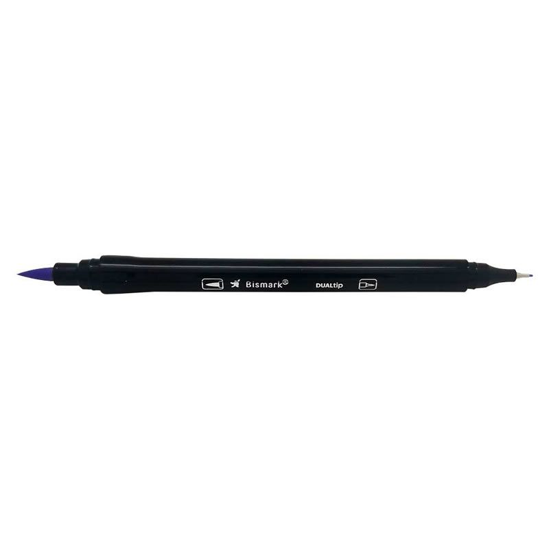 Caneta Pincel Bismark Dual Brush Dualtip Lilas Pastel PK0100C 620 27041