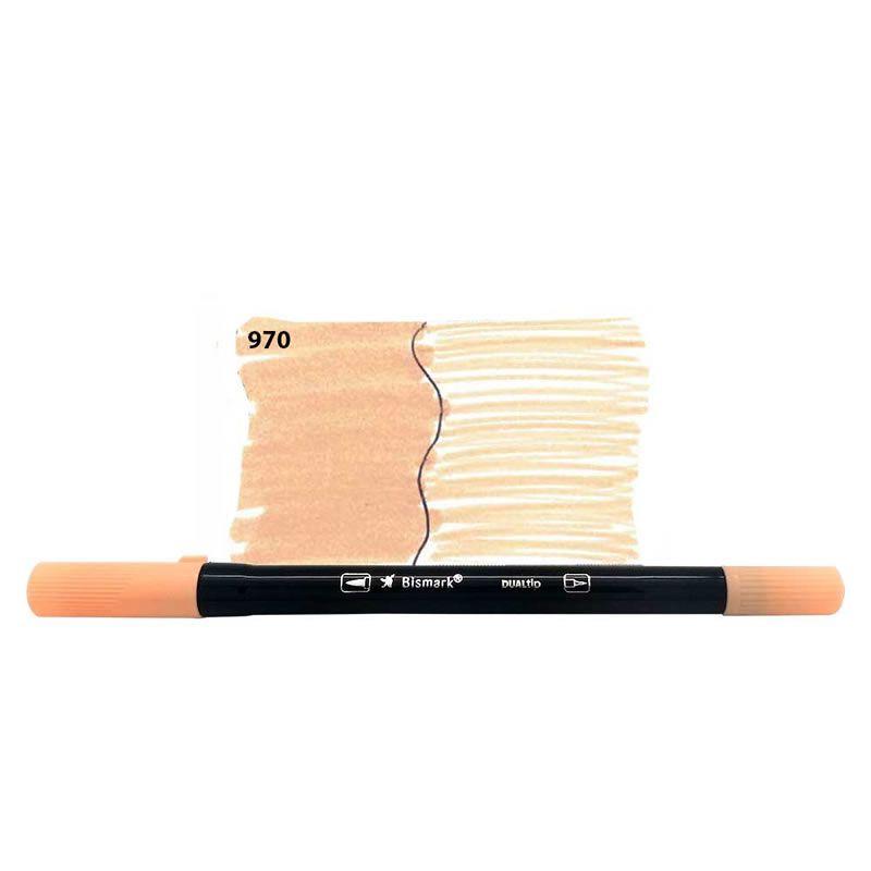 Caneta Pincel Bismark Dual Brush Dualtip Marfim PK0100C 970 27048