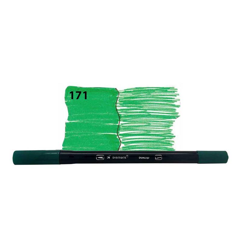 Caneta Pincel Bismark Dual Brush Dualtip Verde Folha PK0100C 171 27034