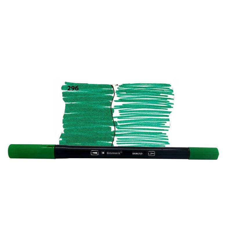 Caneta Pincel Bismark Dual Brush Dualtip Verde Oliva PK0100C 296 27036
