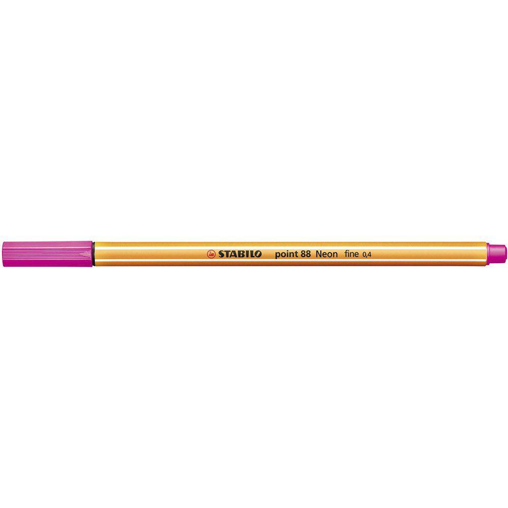 Caneta Stabilo Point 88/056 Fine 0.4 Extrafina Rosa Neon 29071