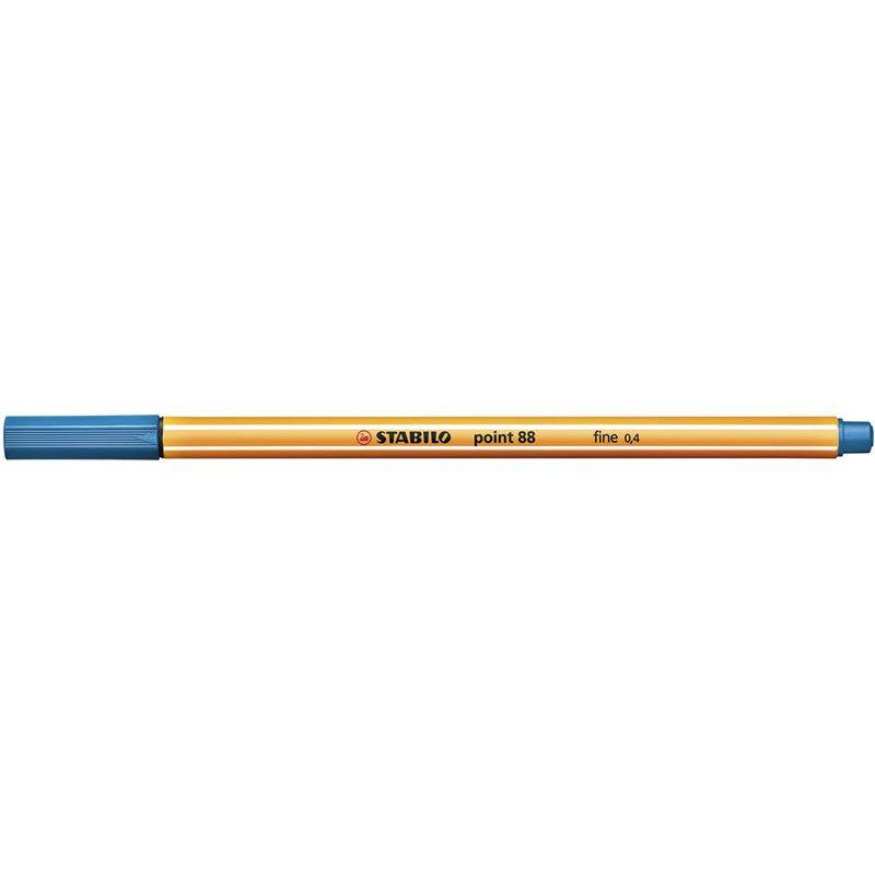 Caneta Stabilo Point 88/32 Fine 0.4 Extrafina Azul Royal 13217
