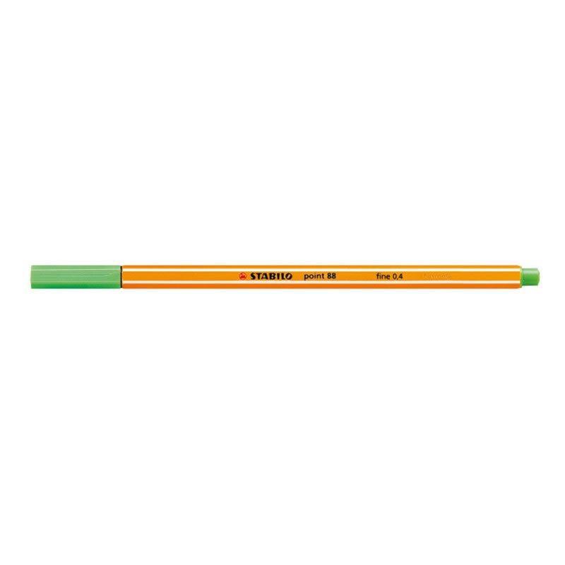 Caneta Stabilo Point 88/33 Fine 0.4 Extrafina Verde Maca 07175