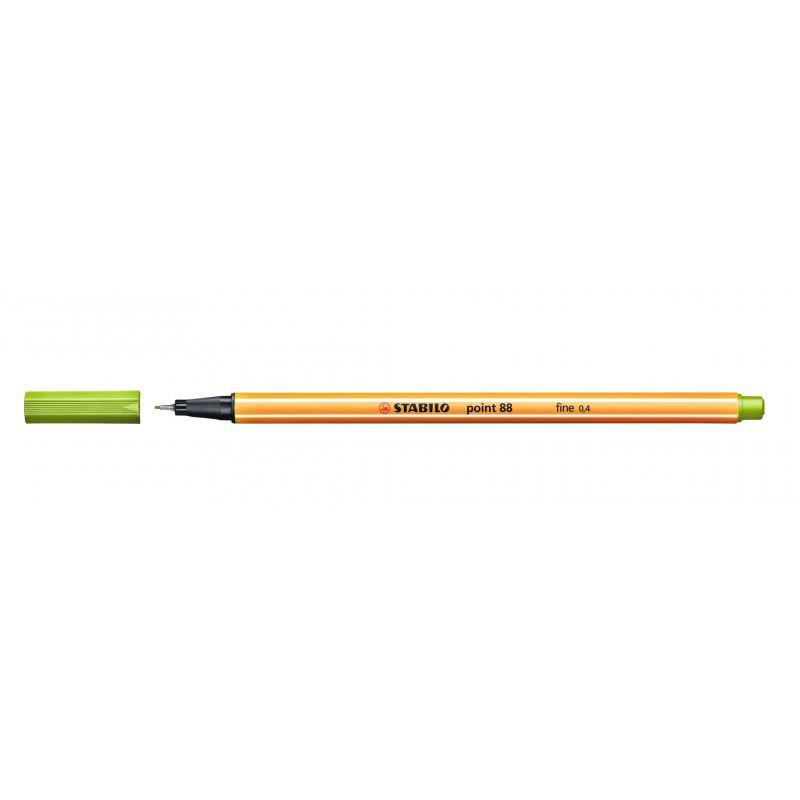 Caneta Stabilo Point 88/43 Fine 0.4 Extrafina Verde Folha 13215