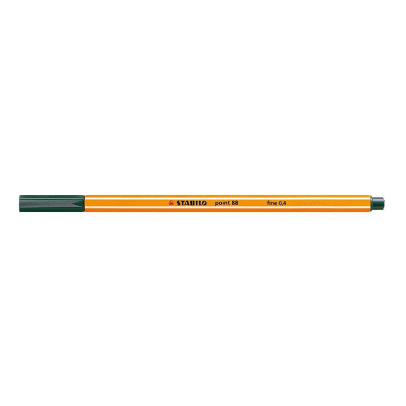 Caneta Stabilo Point 88/53 Fine 0.4 Extrafina Verde Escuro 13222