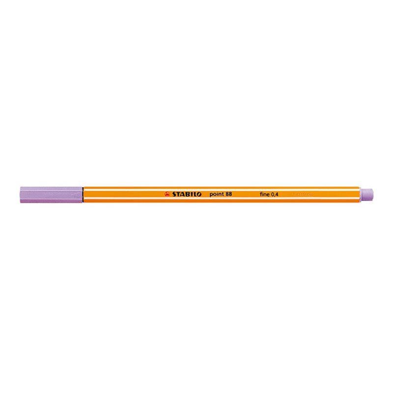 Caneta Stabilo Point 88/59 Fine 0.4 Extrafina Lilas Claro 07189