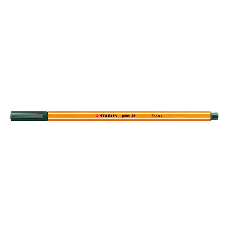 Caneta Stabilo Point 88/63 Fine 0.4 Extrafina Verde Azeite 12935