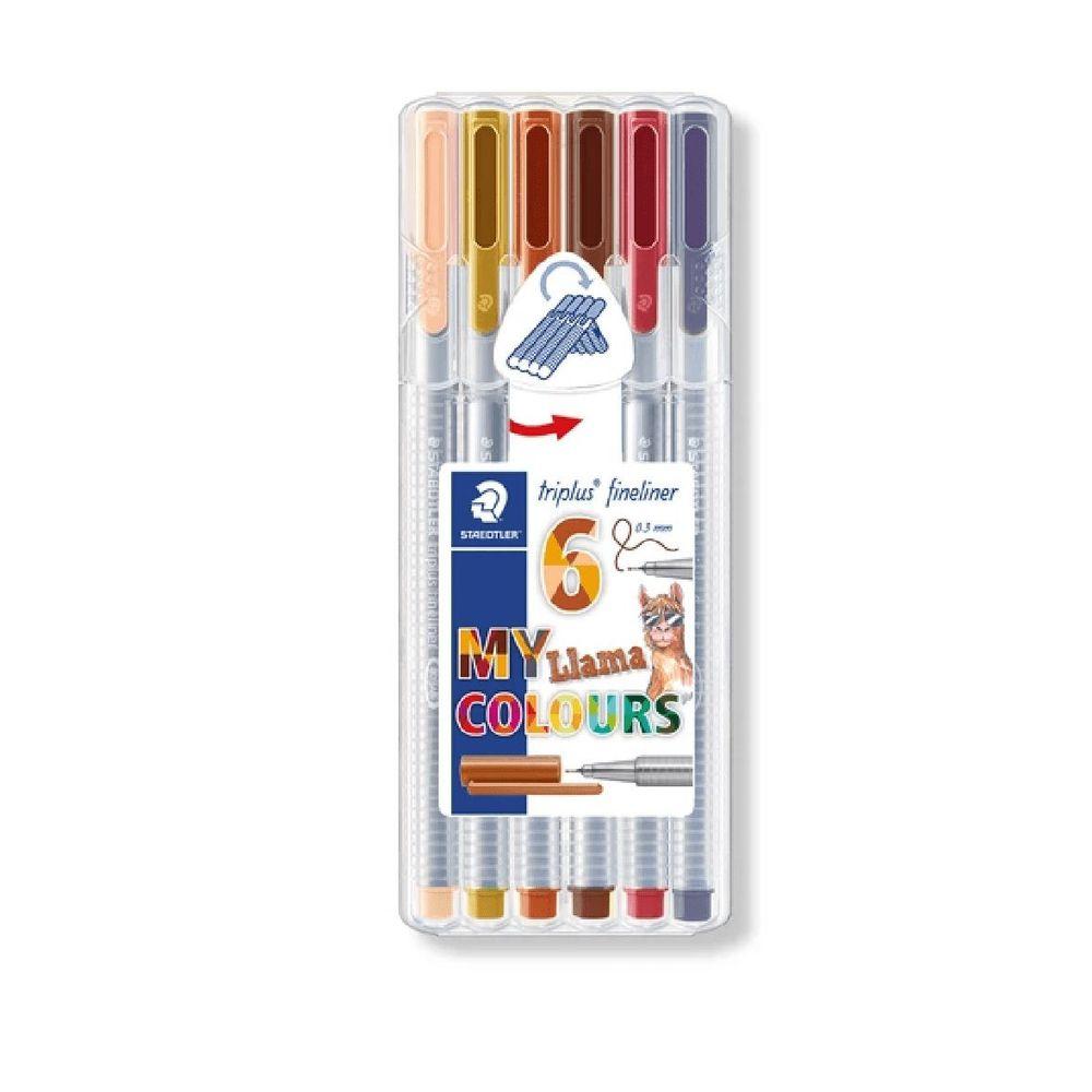Caneta Staedtler Fineliner Triplus 0.3 6 Un. Lhama Colors 334 Sb6Cs9 28828