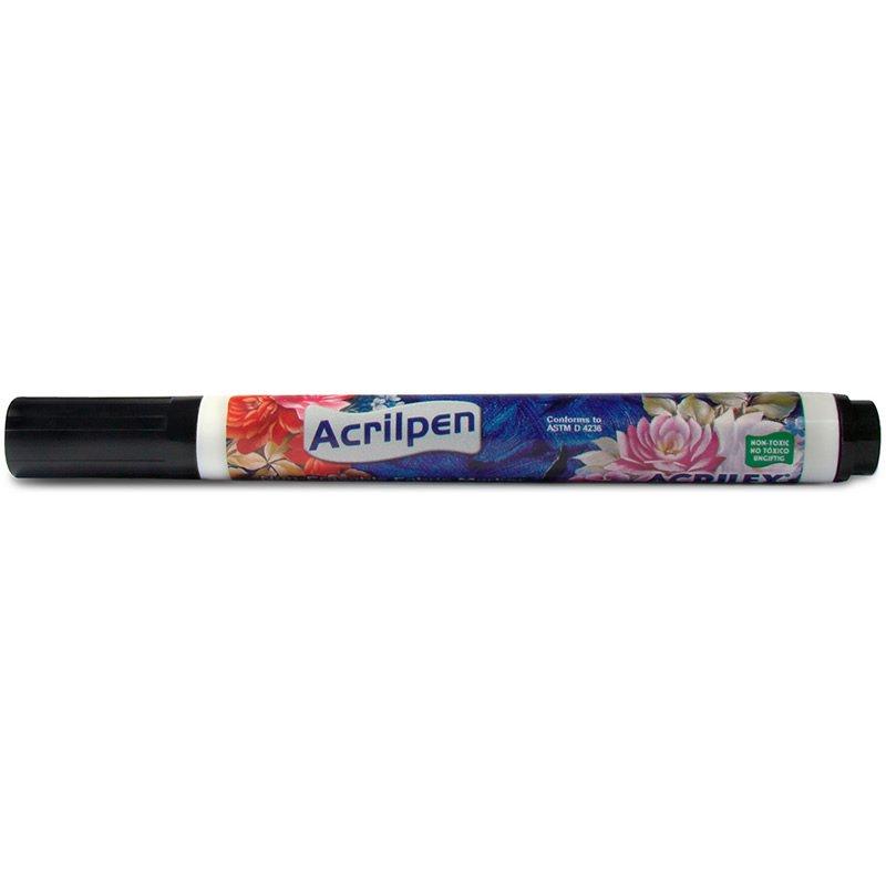 Caneta Tecido Acrilex Acrilpen Preta 520 03946