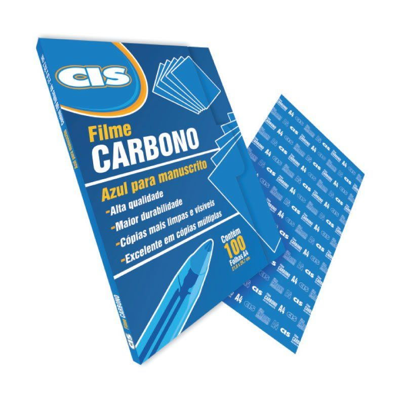 Carbono Papel Azul Manual Caixa Com 100 Fls 30.2200 CiS 23644