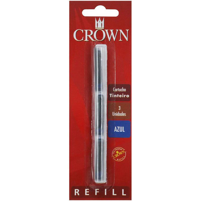 Carga Crown Tinteiro Azul CA32005A 26749
