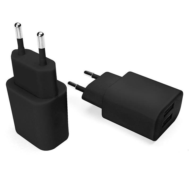 Carregador de Parede USB Essential Dupla Saída 2.1A Preto Geonav Esacb 24190