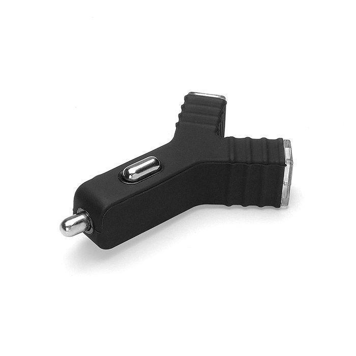 Carregador Veicular USB Essential Dupla Saída 2.1A Preto ESCHB Geonav 24033