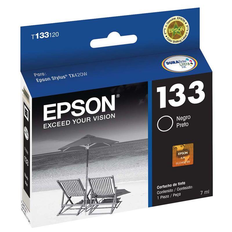 Cartucho de Tinta Epson T133120-BR Preto 16337