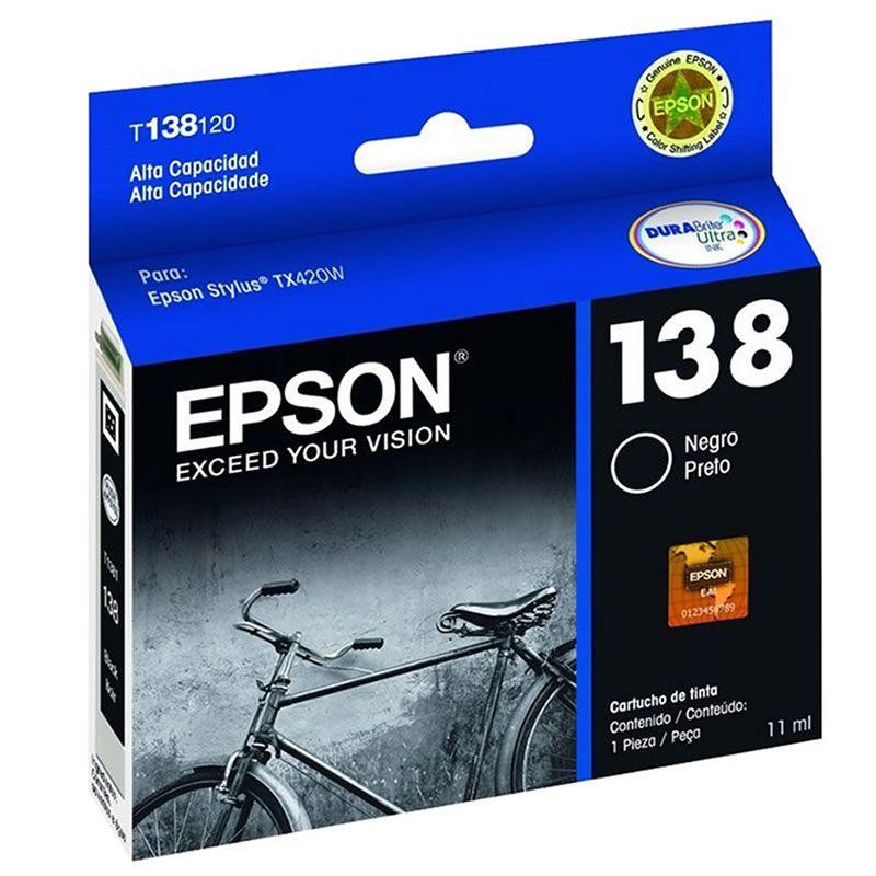 Cartucho de Tinta Epson T138120-AL Preto 15685