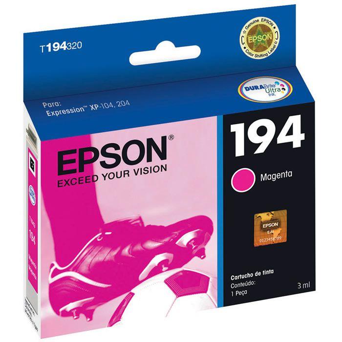 Cartucho de Tinta Epson T194320-BR DurABrite Ultra Magenta 18003