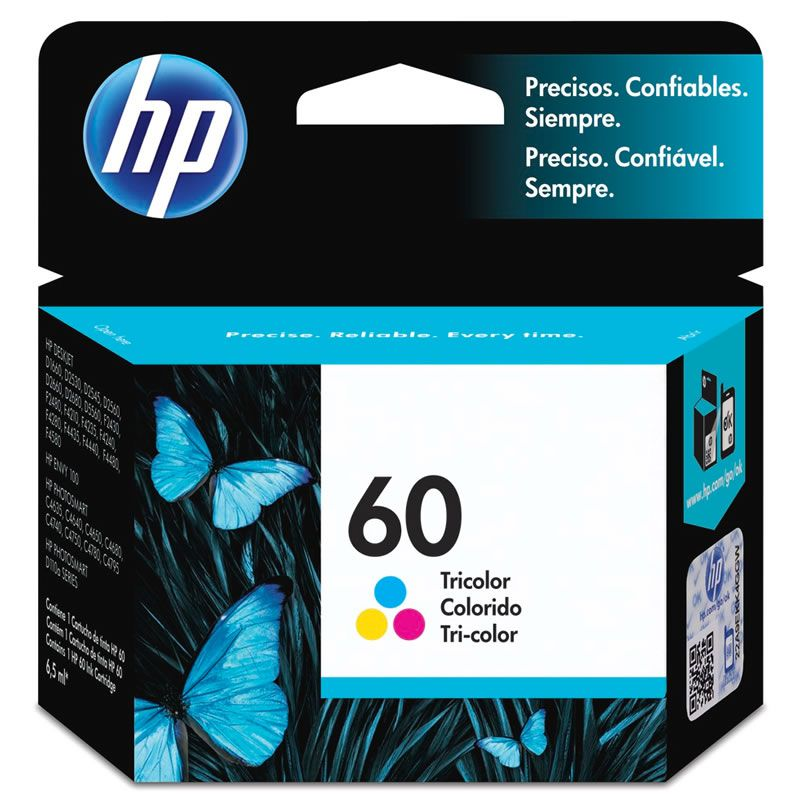 Cartucho HP 60 Colorido Original (CC643WB) 13749
