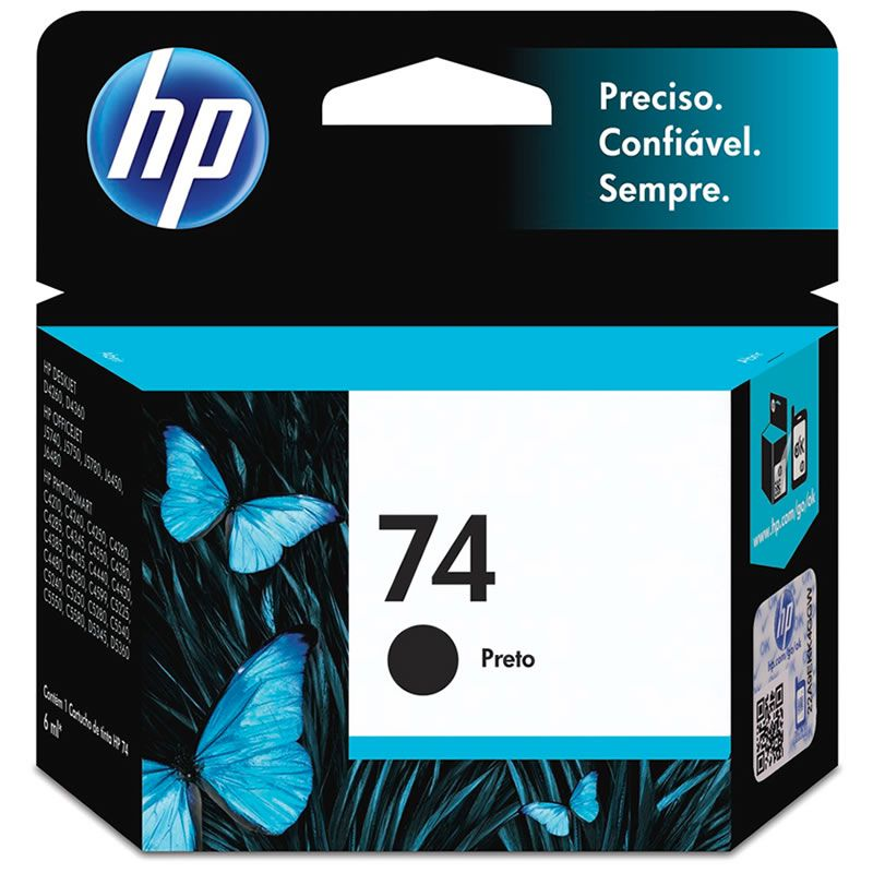 Cartucho HP 74 Preto Original (CB335WB) 13466
