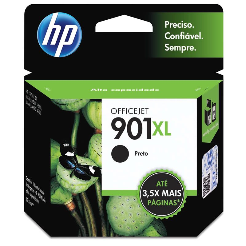 Cartucho HP 901 XL Preto Original (CC654AB) 17343