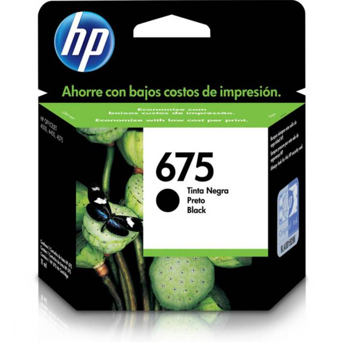 Cartucho HP 675 Preto Original (CN690AL) 15305