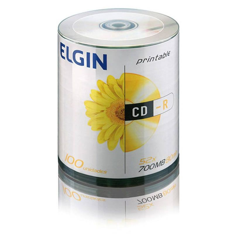 CD-R Elgin 700Mb 80Min Pino 100 Un. Printable 82093/82045 10102