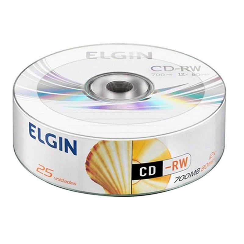 CD-RW Elgin 700mb 80 Min Tubo Com 25 Un. 10104