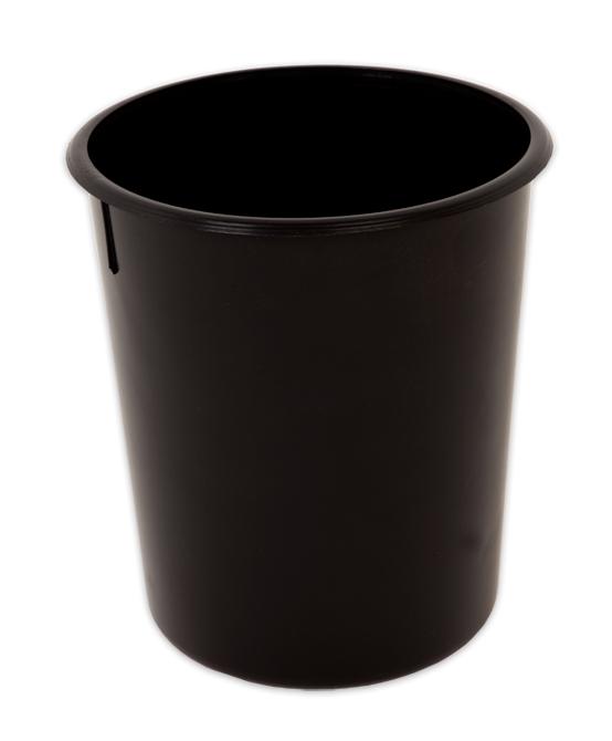 Cesto Para Lixo 10 Litros Plastico Preto Redondo Menno 08383