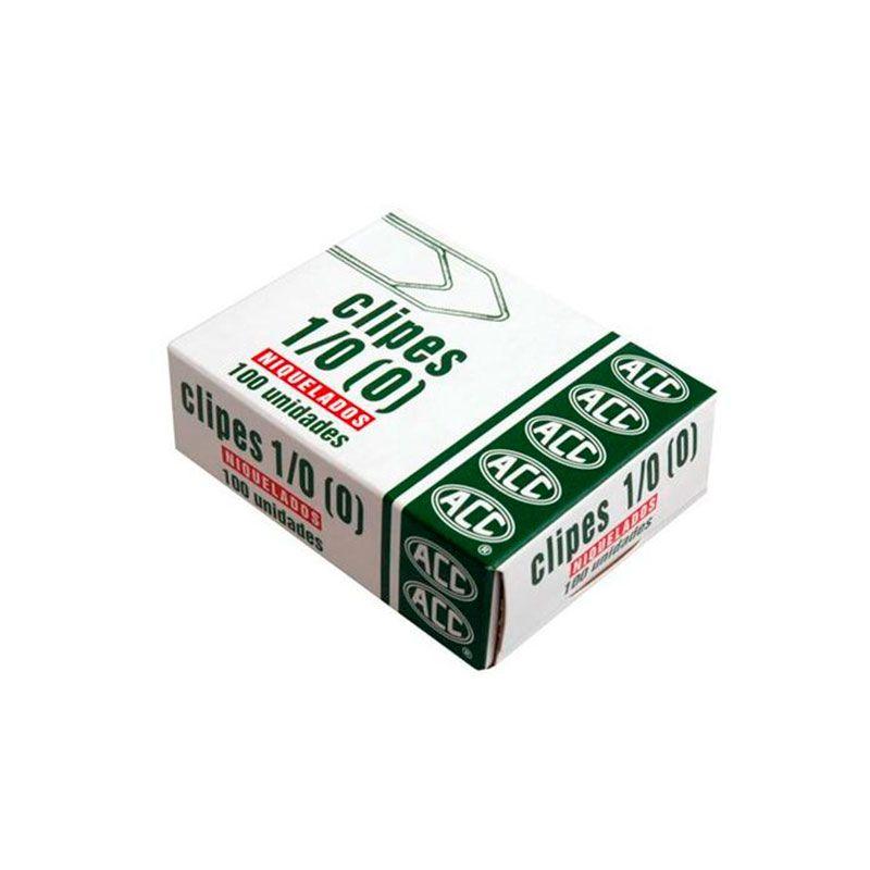 Clips 1/0 Aço Niquelado Caixa Com 100 Un ACC 91.12.06 10464