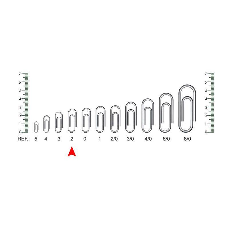Clips 2/0 Aço Niquelado Caixa 100 Un ACC 91.12.08 02607