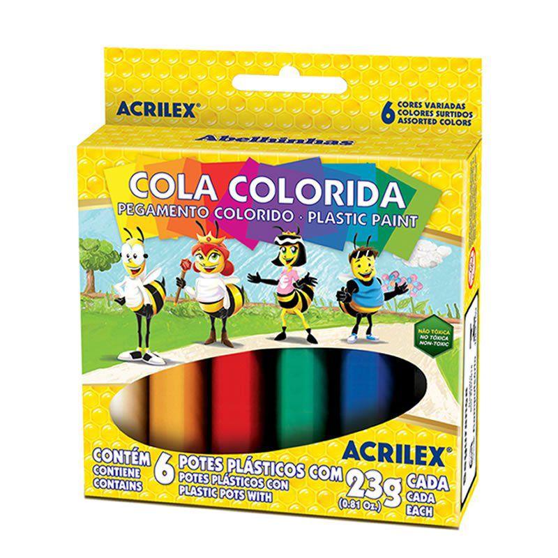 Cola Colorida Acrilex 6 Cores 2606 03952
