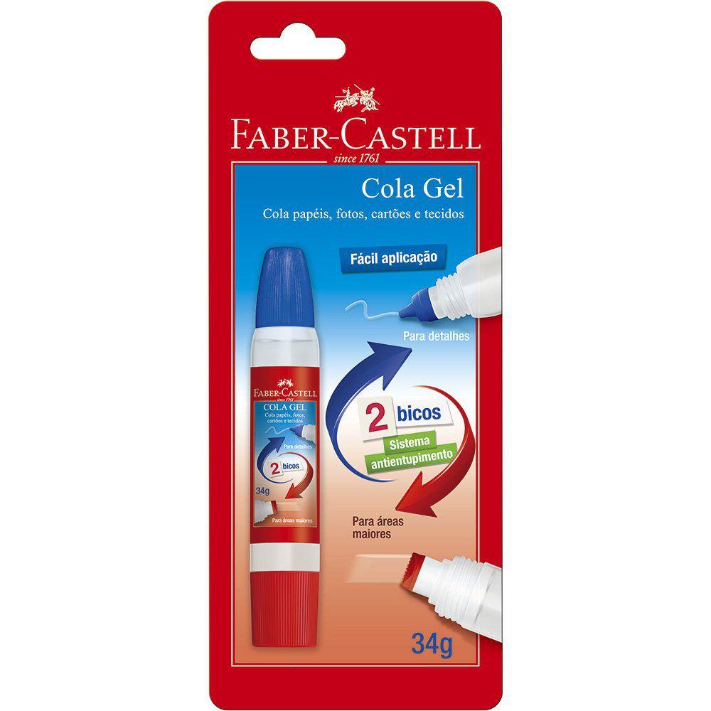 Cola Gel Faber-Castell 34G 2 Bicos Aplicadores 25032