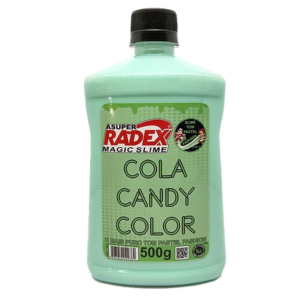 Cola Slime Radex Candy Colors Pastel Verde Menta Fresh 500G 7827 28763