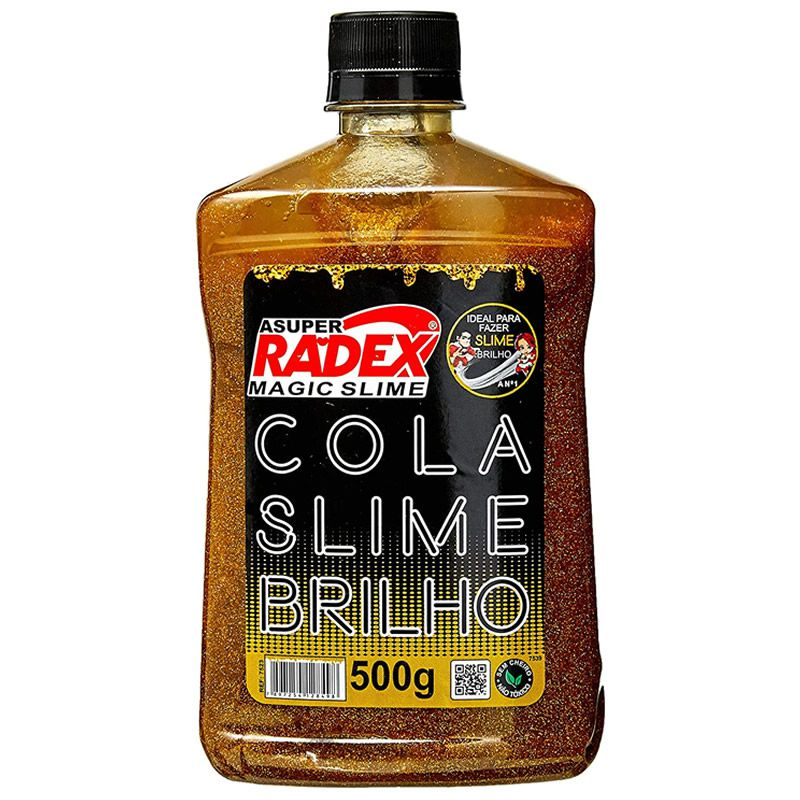 Cola Slime Radex Glow Neon Ouro 500G 7523 28764