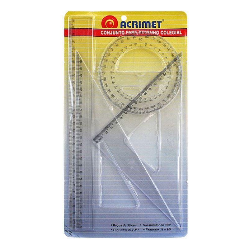Conjunto para desenho Colegial 563.0 Acrimet 22739