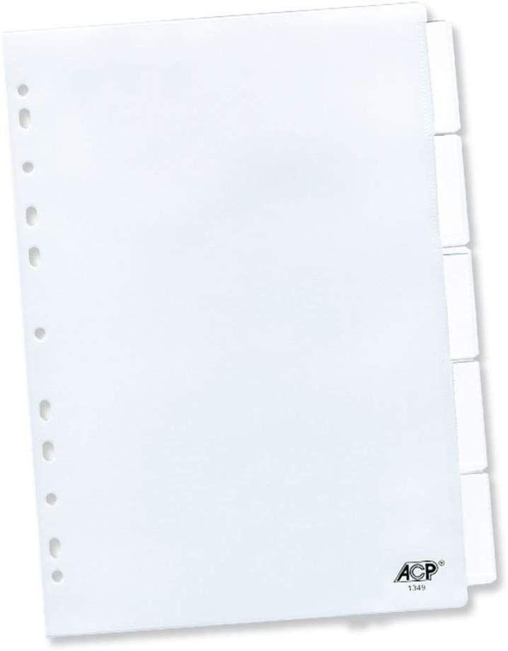 Divisória Para Fichário ACP A4 05 Div Com Inserção Cristal 1349 02492