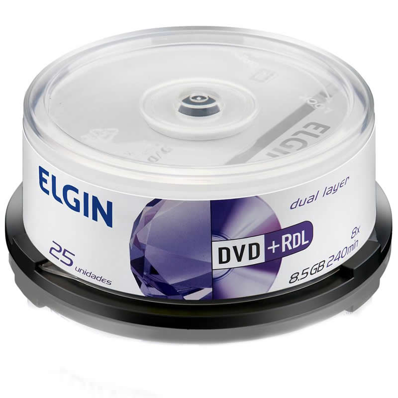 DVD+R Elgin 8,5 Gb 120 Min Cake Com 25 Un. 82108/82095 12191