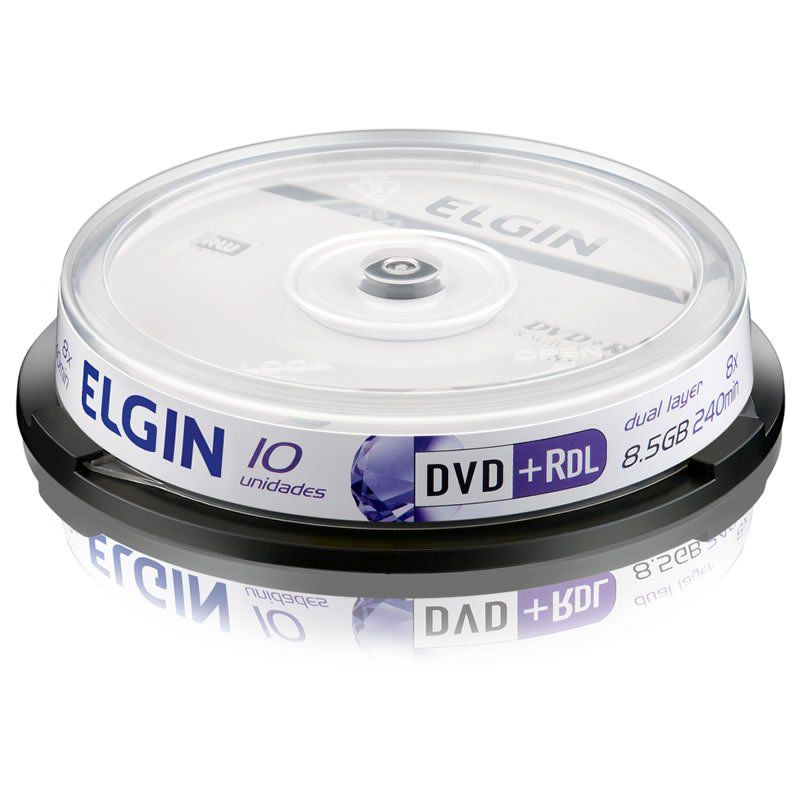 DVD+R Elgin 8,5 Gb 240 Min Tubo 10 Un. 82090/82083 10499