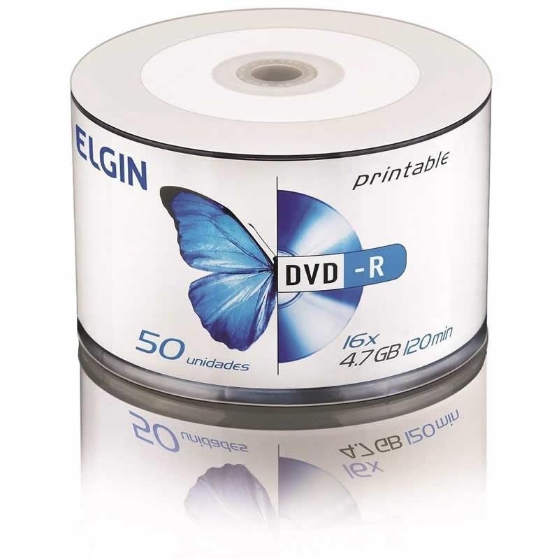 DVD-R Elgin Printable 4,7Gb 120Min 8X Pino 50 Un 82204/82202 10039