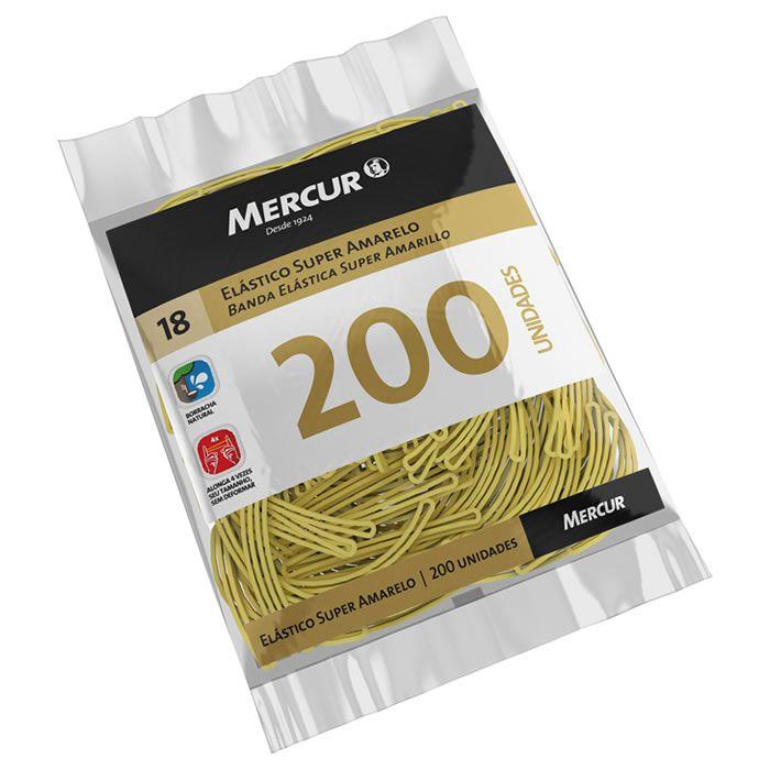 Elástico Super Amarelo Nº 18 Com 200 Un. B0501020407008 Mercur 21783