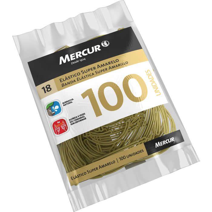 Elástico Super Amarelo Puro 18 Com 100 Un. B0501020407007 Mercur 22085