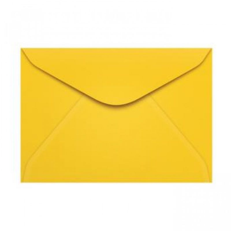 Envelope Colorido Scrity Rio Janeiro / Amarelo 114X162Mm 80G Com 10 Un C 20317