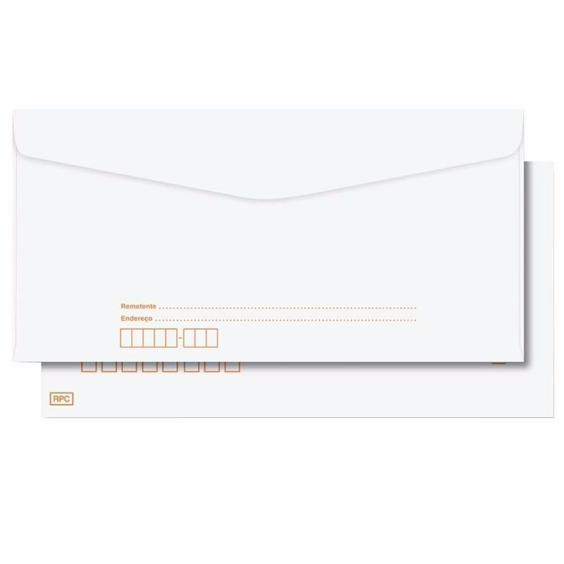Envelope Scrity Pitt Branco 22 114X229Mm Com RPC 63G 1000 Un Cof022 03013