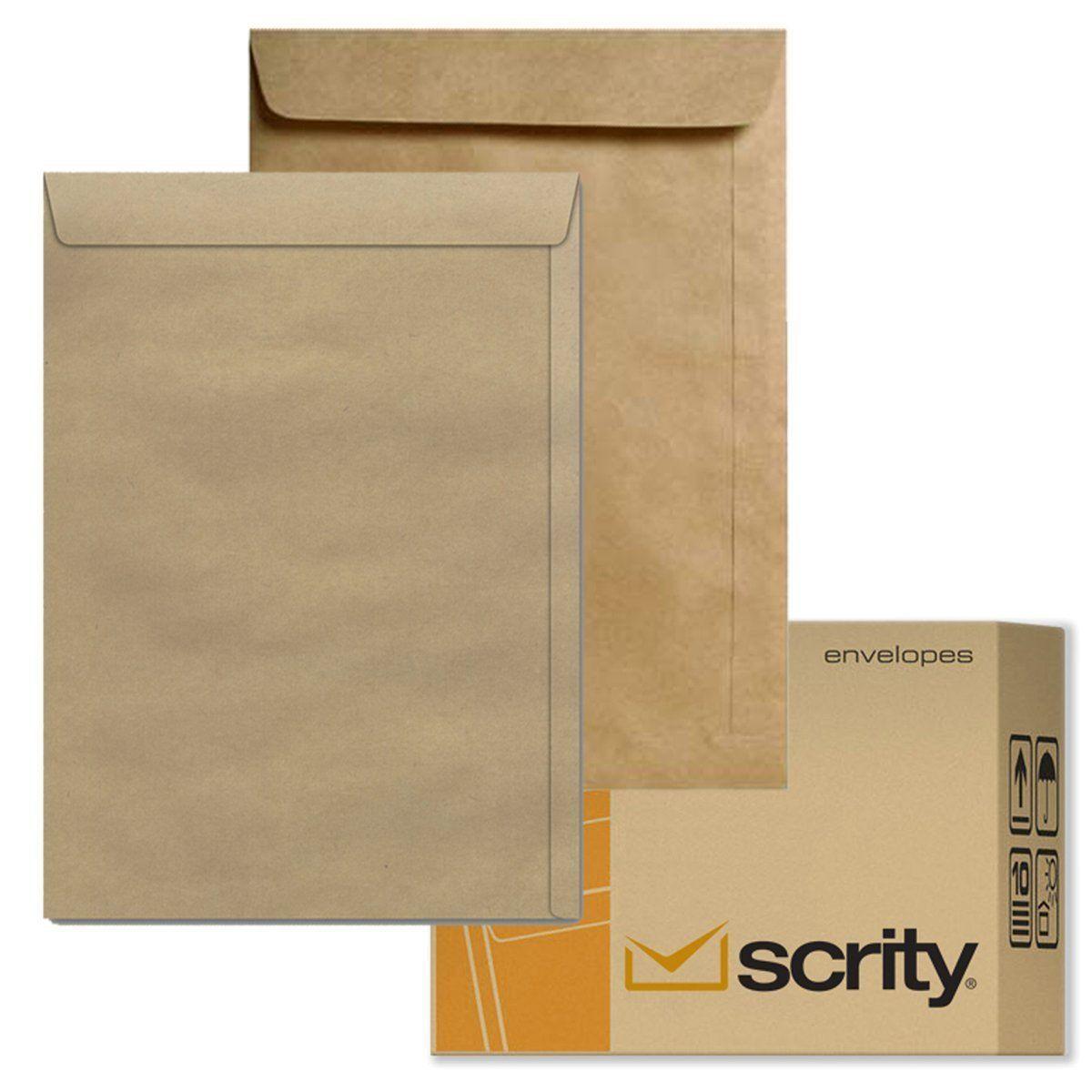 Envelope Scrity Saco Kraft 32 229 X 324 mm 80G 100 UN 07725