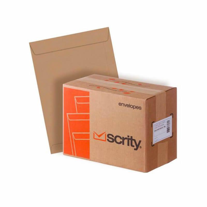 Envelope Scrity Saco Kraft 35 250X353Mm 80G Com 250 Un 02711
