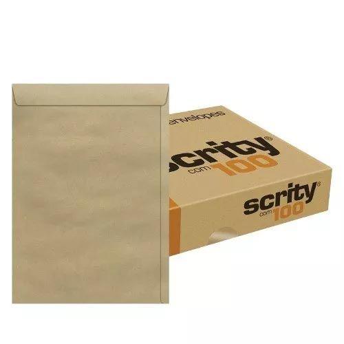 Envelope Scrity Saco Kraft 41 310X410Mm 80G Caixa Com 100 Un  11316