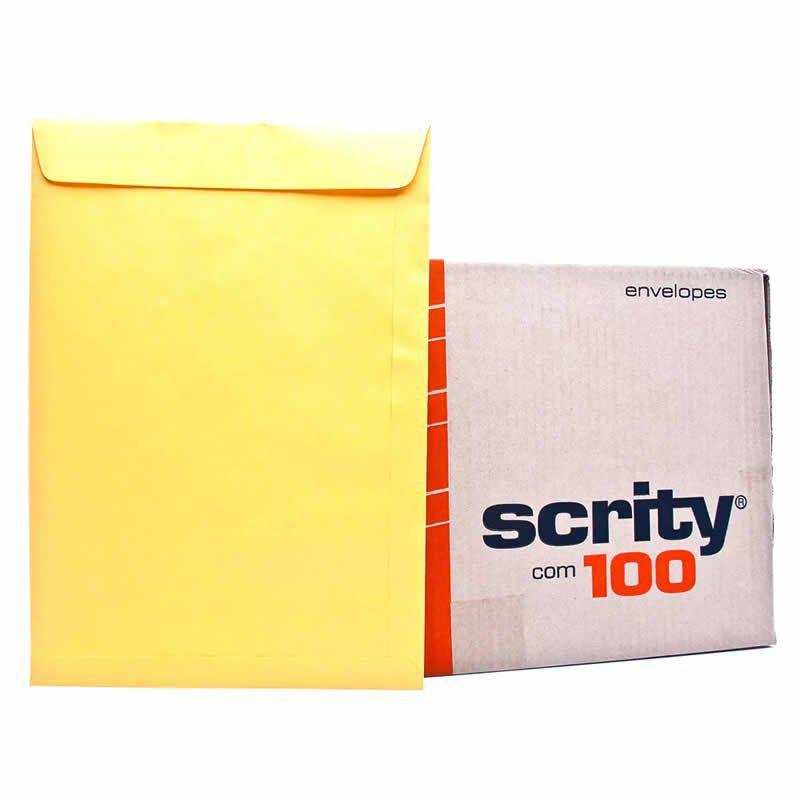 Envelope Scrity Saco Ouro Ko34 240X340 80Gr Com 100 Un E00069 19665