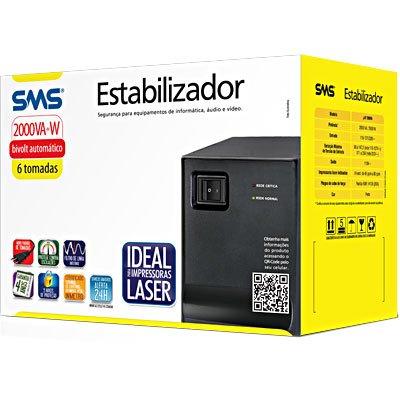 Estabilizador Progressive III Laser 2000VA Bivolt 16218 SMS 17335