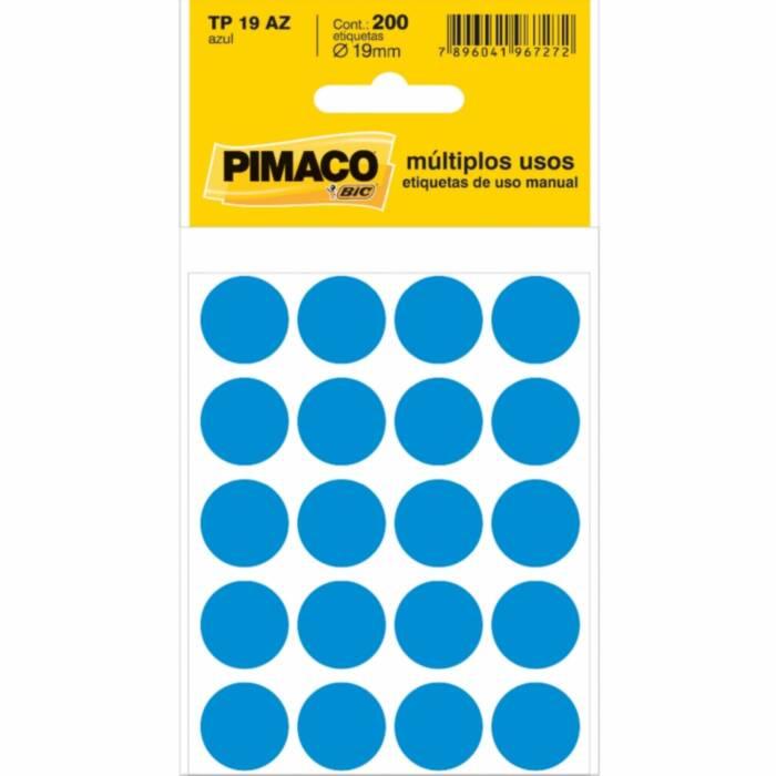 Etiqueta Pimaco Tp 19 Az Azul Redonda 15675